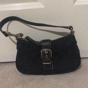 Coach mini bag. Signature canvas black CCs.